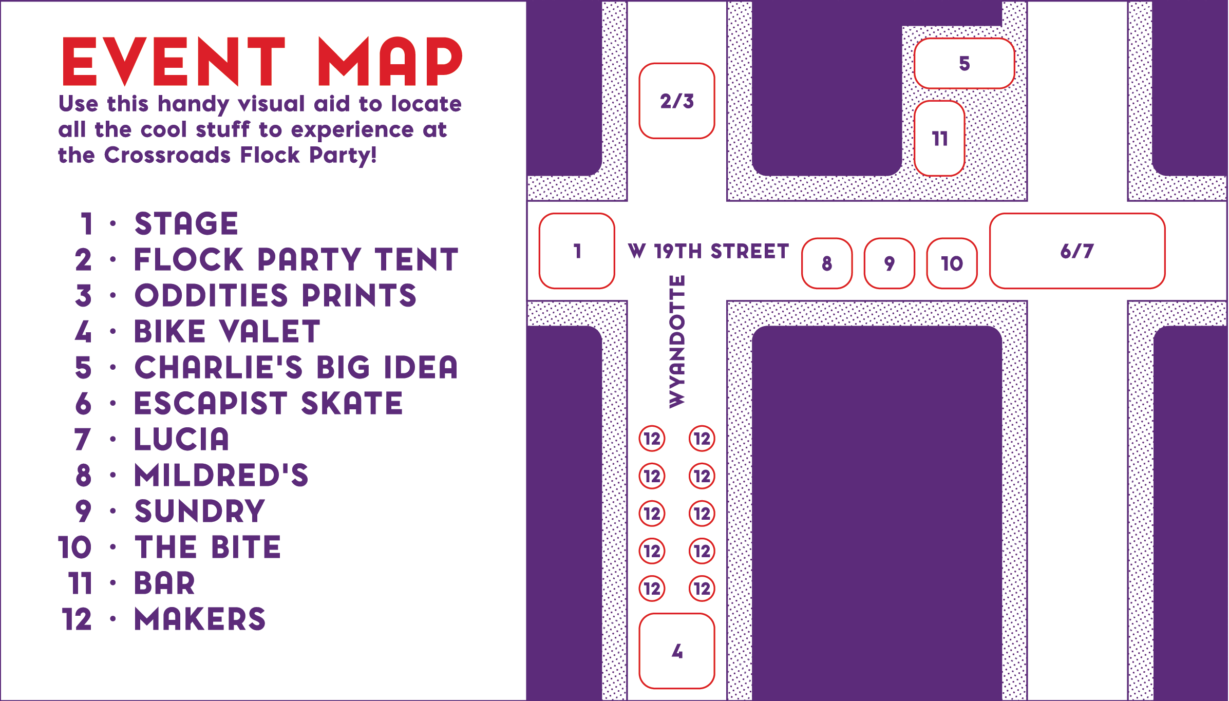 Crossroads Flock Party 2016 event map